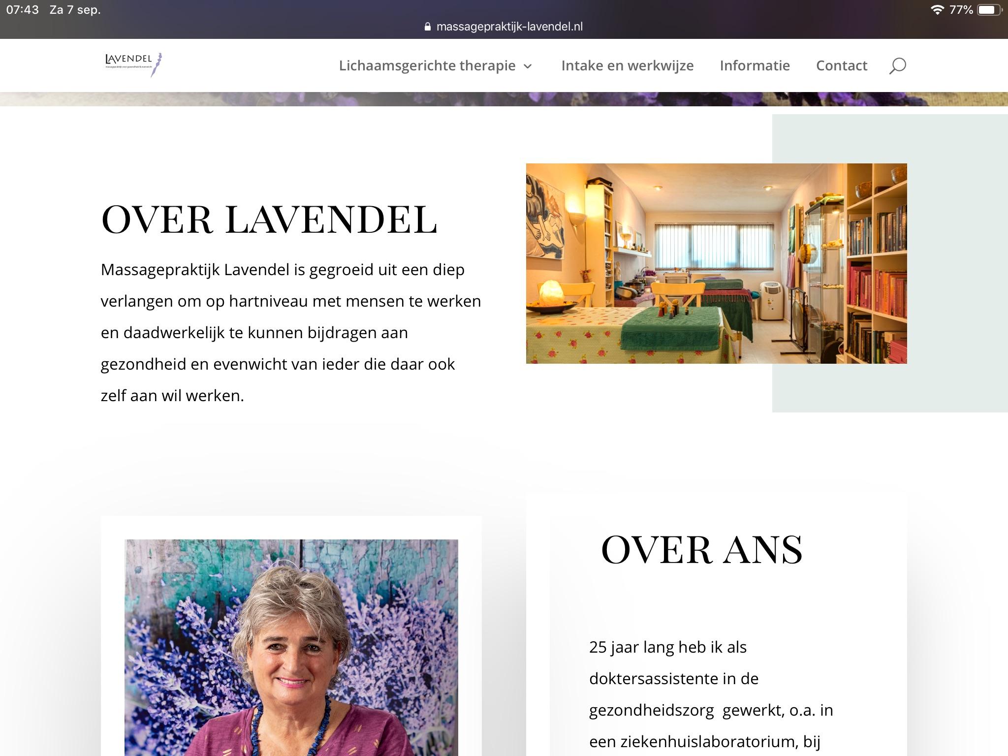 Massagepraktijk Lavendel